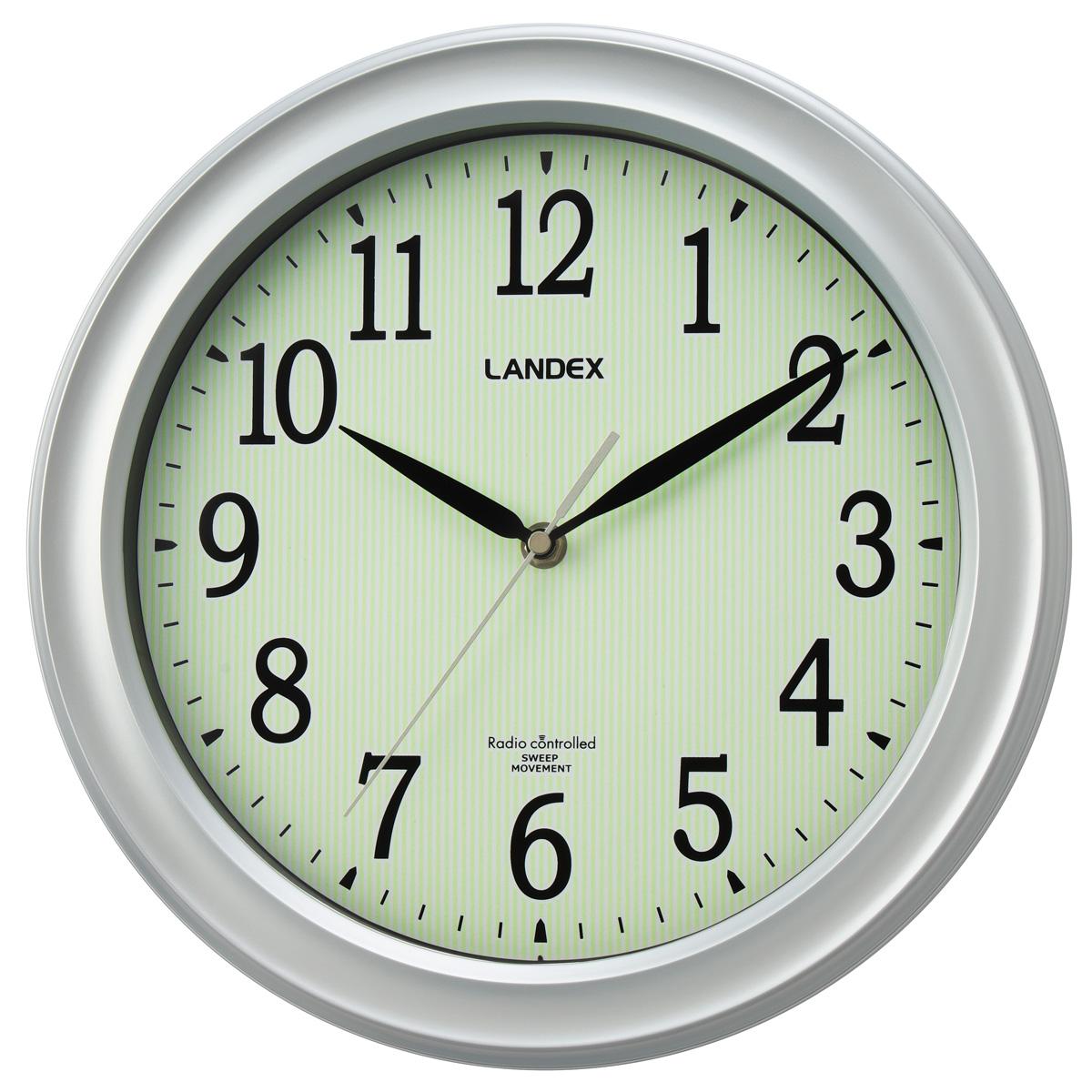 蓄光電波掛け時計 時夜
